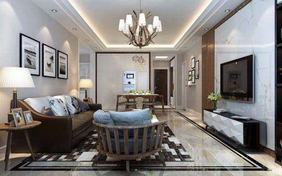 龙瑞苑140平米三居室现代简约风格装修效果图