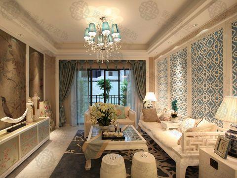 客厅茶几新古典风格装修设计图片