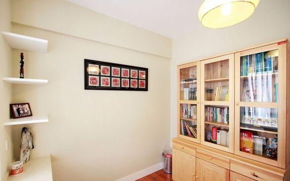 书房背景墙田园风格装饰设计图片