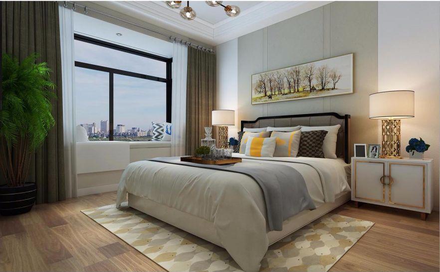 华丽白色卧室装饰实景图