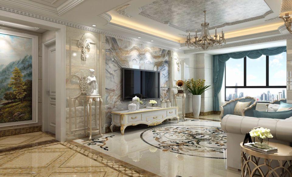 欧式140平三居室装修效果图