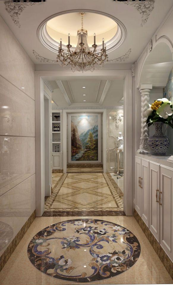玄关吊顶简欧风格装潢设计图片