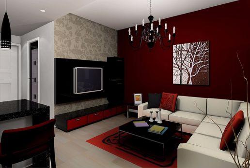 现代简约风格58平米一居室室内装修效果图