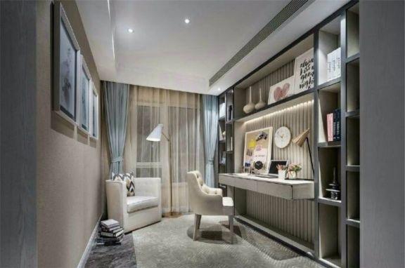 书房书桌欧式风格装饰设计图片