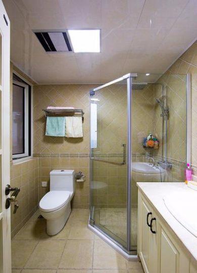卫生间地板砖简约风格装潢效果图
