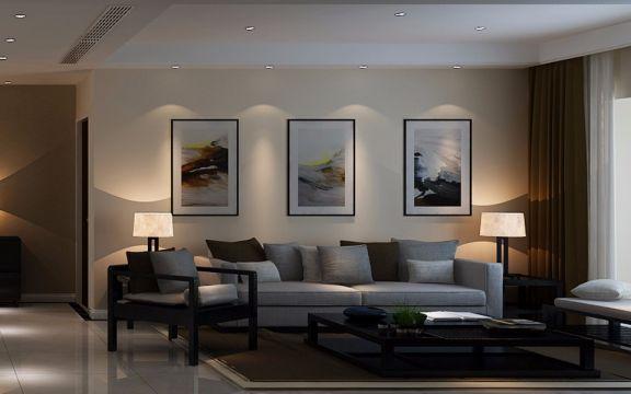100平米现代简约风格二居室装修效果图