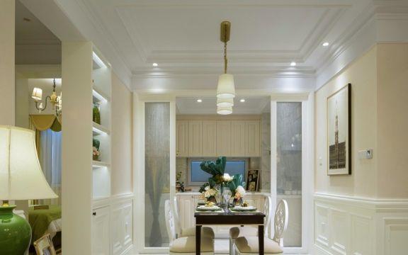 绿洲南苑现代风格80平方二居室装修效果图