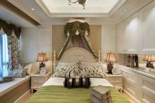 卧室床欧式风格装潢效果图