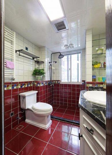 卫生间地板砖新古典风格装潢设计图片