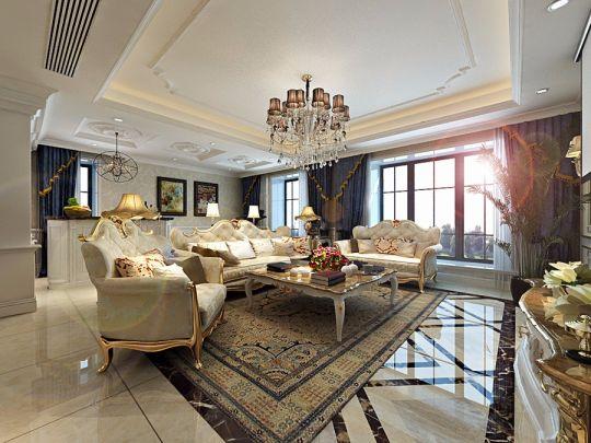 欧式风格145平米三室两厅室内装修效果图