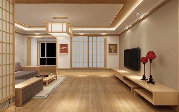 清华公寓91平日式三室两室一卫装修效果图