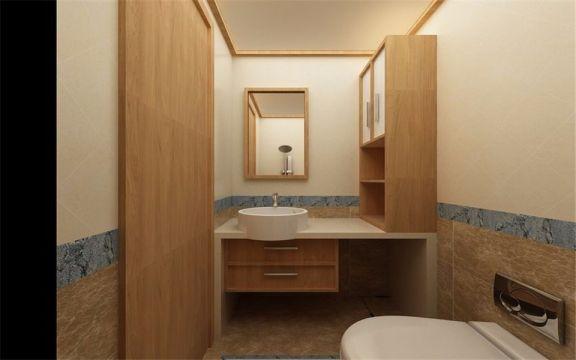 卫生间洗漱台日式风格装饰效果图