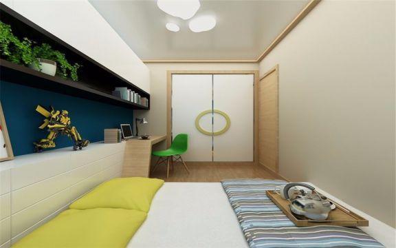 卧室吊顶日式风格装潢效果图