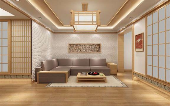 客厅沙发日式风格装修图片