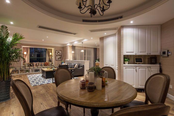餐厅餐桌美式风格装修设计图片