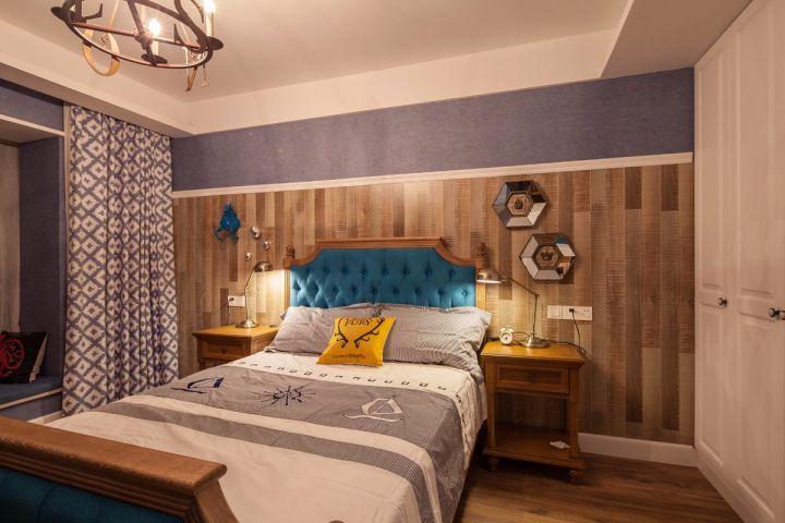 卧室床头柜美式风格装潢设计图片