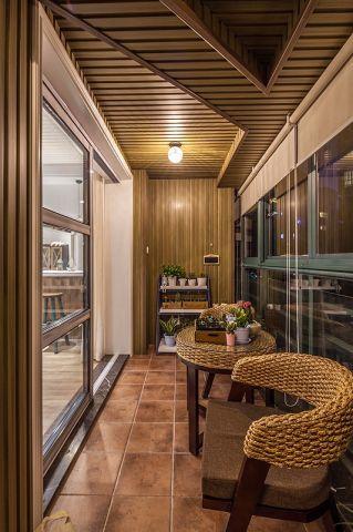 阳台推拉门美式风格装修效果图