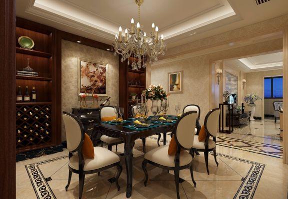 餐厅餐桌新古典风格装饰效果图