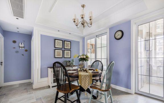 积善公寓美式风格90平方三居室装修效果图
