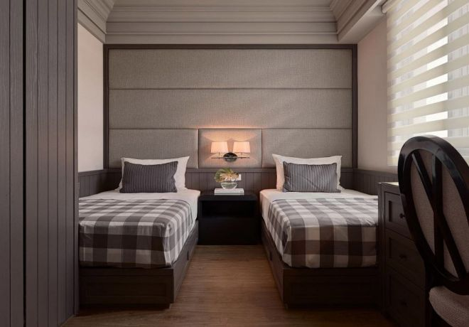 卧室床新古典风格装潢效果图