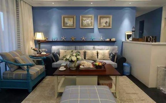 客厅照片墙地中海风格装饰图片