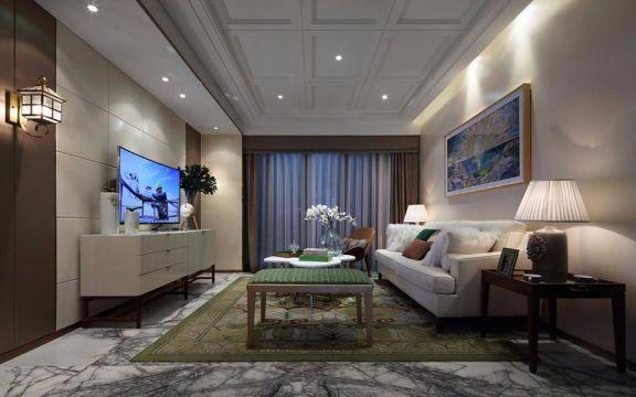 客厅电视柜现代简约风格装饰设计图片