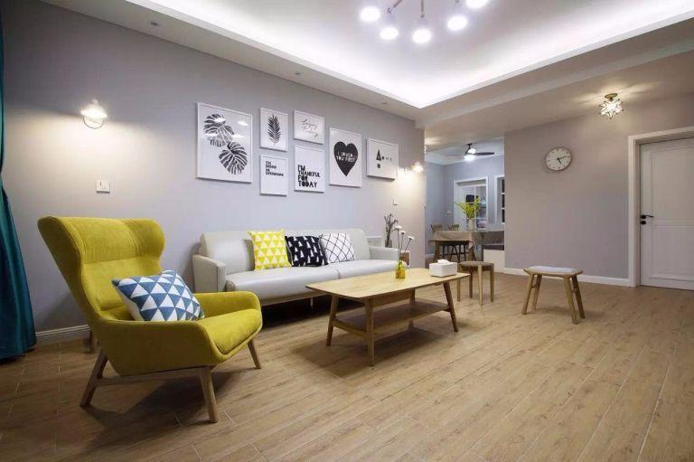 客厅地板砖欧式风格装饰效果图