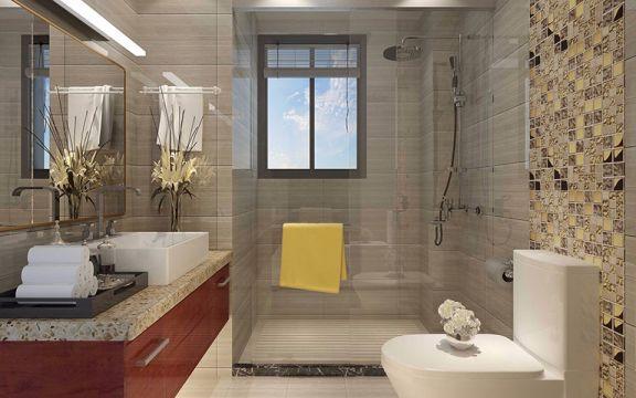 卫生间洗漱台简欧风格装饰图片