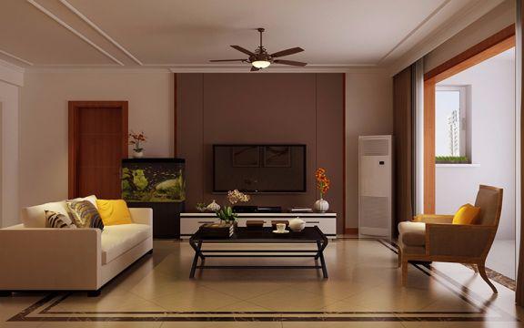 简欧风格80平米两室两厅新房装修效果图