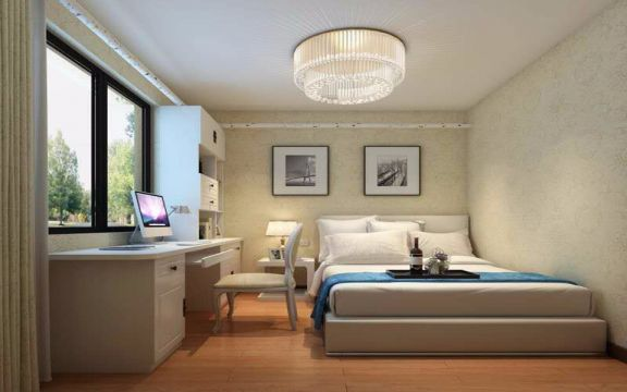 现代简约风格68平米两室两厅新房装修效果图