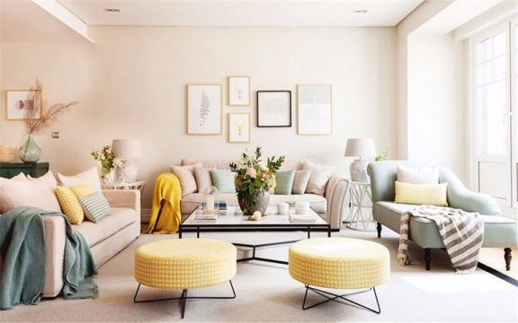 简约风格60平米两室一厅新房装修效果图