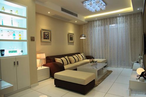 简约风格78平米三室两厅新房装修效果图