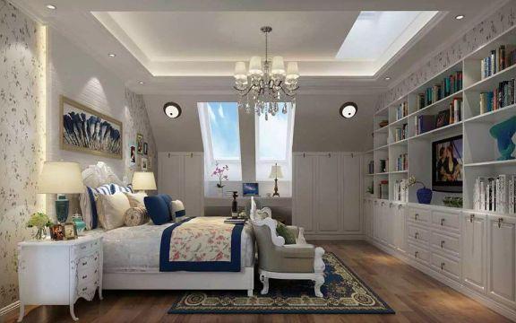卧室床欧式田园风格装潢设计图片