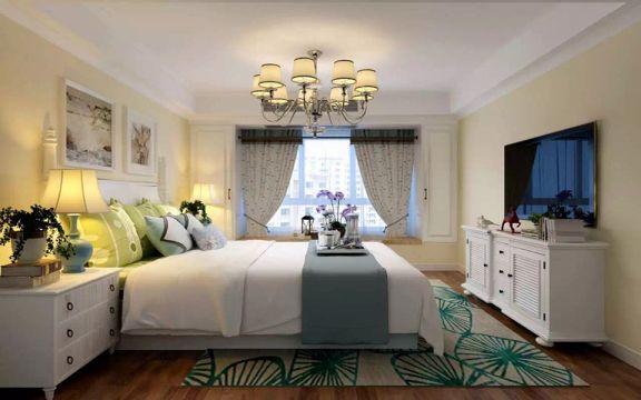 卧室床头柜欧式田园风格装饰效果图