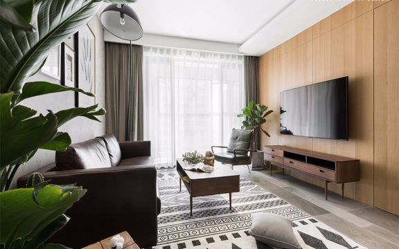 凤凰花园城80平方北欧风格二居室装修效果图