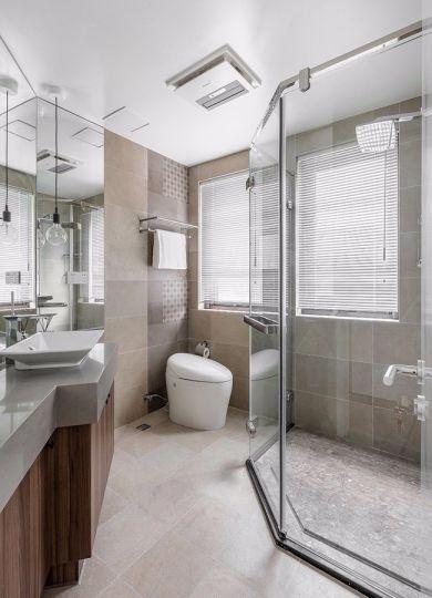 卫生间洗漱台北欧风格装潢效果图