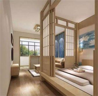 卧室榻榻米日式风格效果图