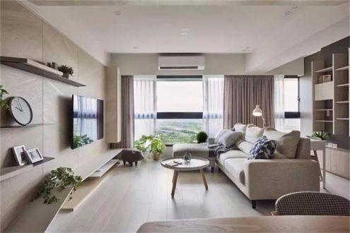 客厅沙发日式风格装饰效果图