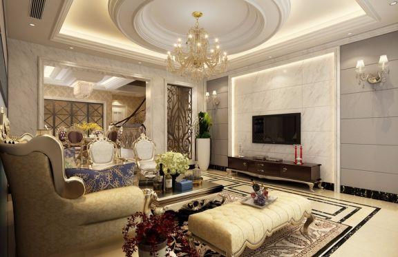 现代欧式风格220平米四室两厅新房装修效果图