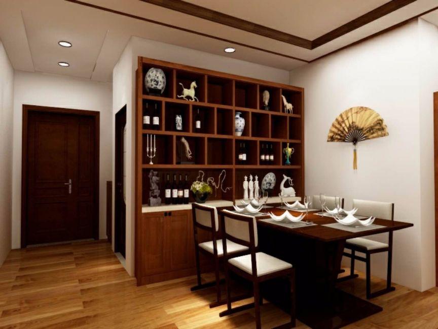 100平两居室新中式风格装修效果图