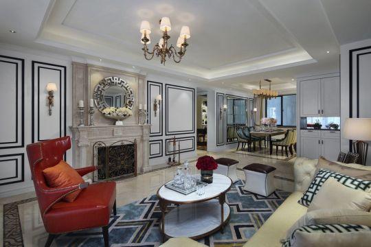 140平米古典美式3室2厅2卫装修效果图