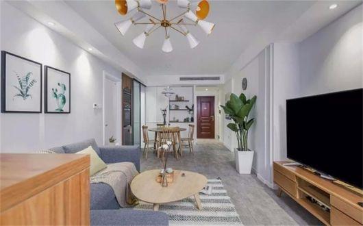 客厅地砖现代简约风格装修效果图