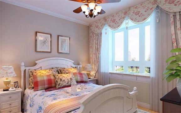卧室床田园风格装修图片
