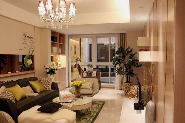 北大资源燕南现代风格96平三居室装修效果图
