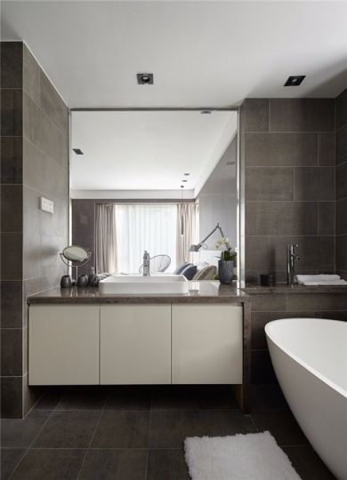 卫生间洗漱台北欧风格装修图片
