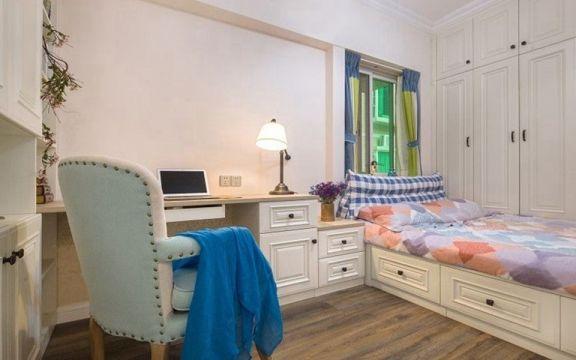 卧室榻榻米美式风格装修设计图片