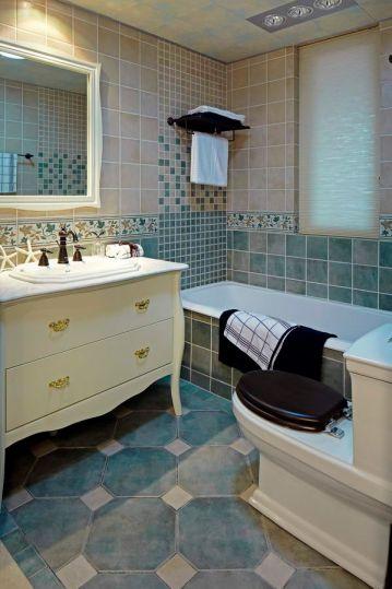 卫生间洗漱台地中海风格装潢设计图片