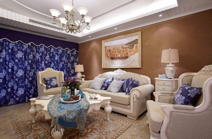 春风与湖地中海风格153平四居室装修效果图