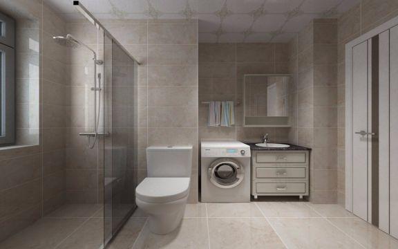 卫生间隔断北欧风格装饰设计图片