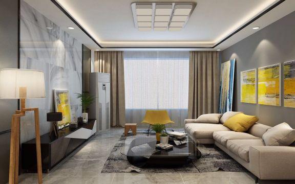 客厅落地窗北欧风格装修设计图片